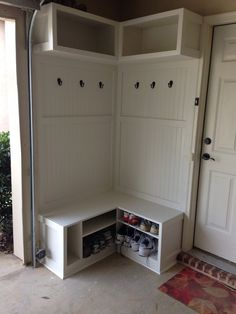 "Acquire great pointers on ""laundry room storage diy cabinets"". They are actually readily available for you on our web site. Corner Hall Tree, Hall Tree Bench, Room Corner, Corner Unit, Coat Storage, Corner Storage, Small Storage, Shoe Storage, Hall Storage Bench"
