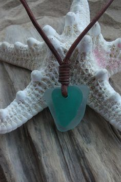 Green and White Sea Glass Necklace Scottish by byNaturesDesign, $12.00