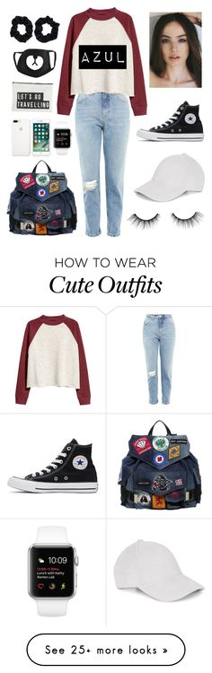 """Azul's Outfit"" by fedelinewiarta on Polyvore featuring Converse, Topshop, H&M, Dsquared2, Le Amonie, tarte, House Doctor and Accessorize"