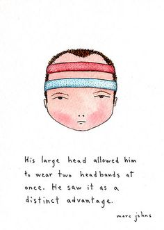 Two headbands at once by Marc Johns
