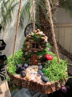 Fairy Garden Pots, Indoor Fairy Gardens, Fairy Garden Houses, Garden Planters, Indoor Garden, Gnome House, Gnome Door, Garden Ladder, Fairy Furniture