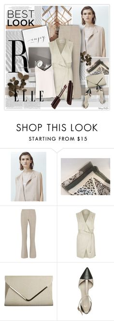 """Beige and Grey for Fall"" by mcheffer ❤ liked on Polyvore featuring Prada, MANGO, MaxMara, River Island, Anna Field, L'Agence, colorchallenge, sleevelesscoat and beigegrey"