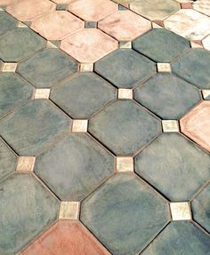 Arizona Golden Oak Flagstone Block Brick Concrete Pavers - Concrete octagon patio pavers
