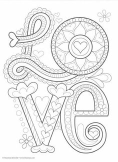 Color Love Coloring Book : Thaneeya McArdle by thecottageneedle Make your world more colorful with free printable coloring pages from italks. Our free coloring pages for adults and kids. Love Coloring Pages, Valentine Coloring Pages, Printable Adult Coloring Pages, Mandala Coloring Pages, Coloring Books, Doodle Drawings, Doodle Art, Poster Art, Embroidery Patterns