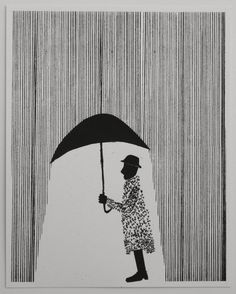 Raincoat 16 x 20 by Ben Kafton Art Graphique, Silk Screen Printing, Grafik Design, Line Art, Printmaking, Graphic Art, Art Photography, Street Art, How To Draw Hands