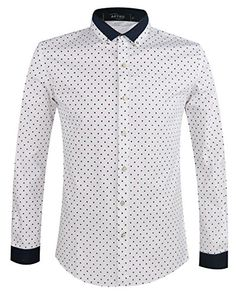 APTRO Men's Cotton Blend Casaul&Business Polka Dot Shirt #02 Red with Blue Dot XS APTRO http://www.amazon.co.uk/dp/B00UHGV27W/ref=cm_sw_r_pi_dp_r6oywb1F5G01M