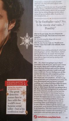 sherlock in the christmas/new year issue of radio times
