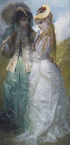 catonhottinroof:  Gustave Doré (1832 - 1883) Miladys at Hyde-Park   (Les dames de   Hyde-Park)