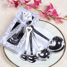 """Love Beyond Measure"" Heart Shaped Measuring Spoons Wedding Favor 122343 2017 – $1.42"