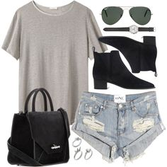 Untitled #431 by jennifer1297 on Polyvore featuring 6397, One Teaspoon, Acne Studios, Givenchy, J.Crew, Michael Kors, ASOS and Ray-Ban