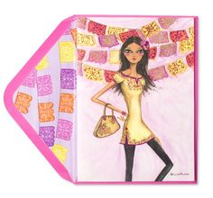 The fashion girl on this birthday card is all ready for her big day. From artist Bella Pilar, this feminine chic card is sure to add delight to her special day. Big Day, Special Day, Birthday Cards, Girl Fashion, Aurora Sleeping Beauty, Feminine, Disney Princess, Chic, Fiestas