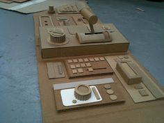 A control panel that is, for our spaceship cockpit. All from cardboard as is the norm in the studio. And if you look real close you can see...