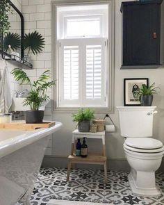 Modern Bathroom Decor Ideas Match With Your Home Design Style 02 Bathroom Windows, Bathroom Plants, Bathroom Interior, Modern Bathroom, Silver Bathroom, Bathroom Small, Bathroom Floor Tiles, Shower Floor, Basement Bathroom