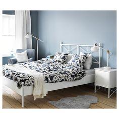 SÖTBLOMSTER   плик за завивка и 2 калъфки, 240x220/50x60 см, бяло/синьо - IKEA 55,00 лв