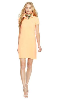 Cotton Mesh Polo Dress - Polo Ralph Lauren Short - RalphLauren.com
