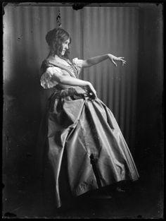 The dancer Gertrude Barrison in Biedermeier costume, ca. 1907 by Ferdinand Schmutzer