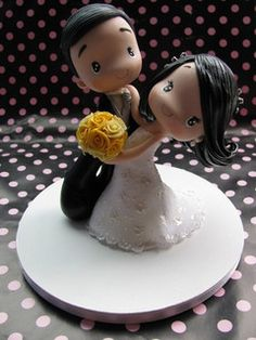 Wedding cakes have actually become an important decor at wedding venues where visitors still excite themselves over how remarkable the wedding cake is. Fondant Toppers, Cupcake Toppers, Cupcake Cakes, Wedding Doll, Dream Wedding, Wedding Cake Toppers, Wedding Cakes, Wedding Venues, Wedding Ideas
