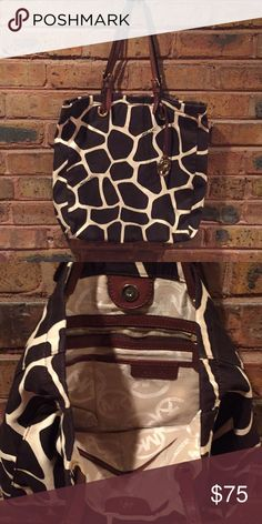 a6fb098af8c8 Animal print tote from Michael Kors Super cute and clean tote like new Michael  Kors gold MK charm no rips or stains smoke free Michael Kors Bags Totes
