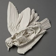 Icarus sculpture by kate macdowell  Creepy but interesting...