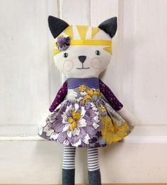 Cat Doll / Cat Rag Doll / Stuffed Kitty Cat /Stuffed Animal