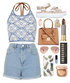 """""""Smiling subconsciously"""" by tigerlily789 ❤ liked on Polyvore featuring River Island, Topshop, KG Kurt Geiger, Michael Kors, Ray-Ban, Sonix, Urban Decay, Forever 21 and Marc by Marc Jacobs"""