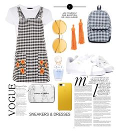 """""""Gingham"""" by naomiiiiiiiil ❤ liked on Polyvore featuring Topshop, Whiteley, Puma, LeSportsac, Kenneth Jay Lane and Marc Jacobs"""