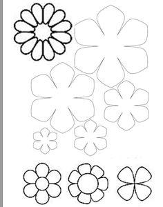 шаблон цвете