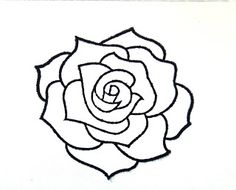 rose drawing - Secret New Life Easy Drawings, Tattoo Drawings, Tattoos, Rose Drawing Simple, Rose Stencil, Plant Drawing, Drawing Drawing, Flower Coloring Pages, Embroidery Patterns