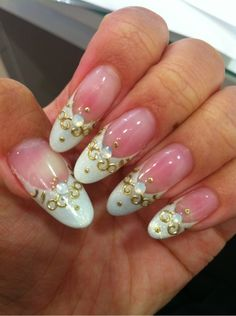 White tips nail art