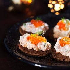 Lohimousse // Salmon Mousse Food & Style Uura Hagberg Photo Satu Nyström Maku www. Finland Food, Party Food Platters, Scandinavian Food, Good Food, Yummy Food, Bbq, Everyday Food, Finger Foods, Food Inspiration