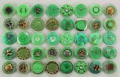 Vintage Uranium Vaseline Glass Buttons