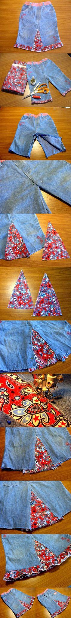DIY Easy Skirt from Old Jeans | iCreativeIdeas.com LIKE Us on Facebook ==> https://www.facebook.com/icreativeideas