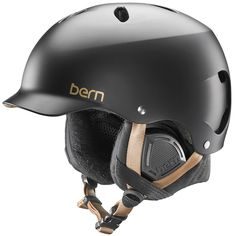 Bern Lenox EPS Women's Winter Snowboard Helmet, XS/S, Satin Black