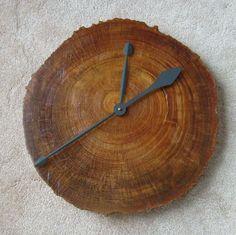 REDUCED PRICE: Driftwood pine heart wall clock. $70.00, via Etsy.