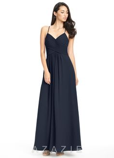 Shop Azazie Bridesmaid Dress - Haleigh in Chiffon. Find the perfect made-to-order bridesmaid dresses for your bridal party in your favorite color, style and fabric at Azazie.