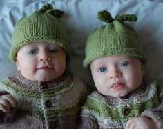 Peas in a Pod - A simple roll-brimmed baby hat is the perfect project for baby knitting - with no tedious ribbing or edgings it works up in a snap, and the roll of the brim ensures that your hard work will fit a rapidly-growing head for a long time.  Melissa Mall