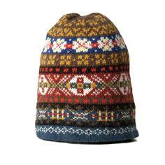 0270a41443da Jamieson s of Shetland Fairisle Hat (Peat)