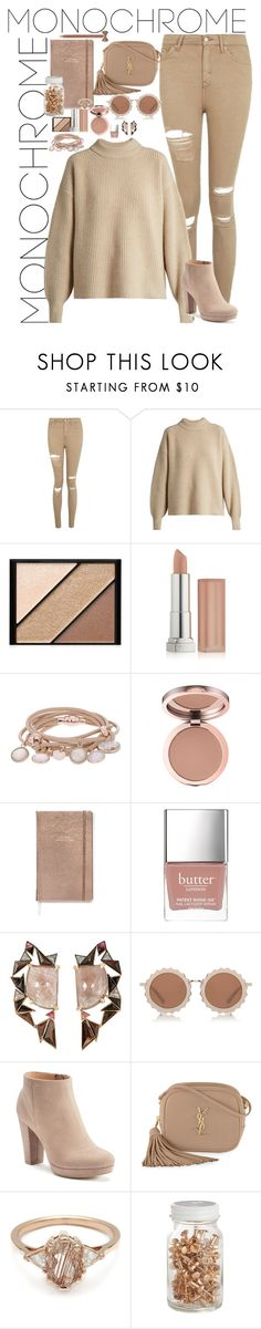 """""""Monochrome"""" by fashion-nova ❤ liked on Polyvore featuring Topshop, The Row, Elizabeth Arden, Maybelline, Marjana von Berlepsch, Kate Spade, Butter London, Nak Armstrong, House of Holland and LC Lauren Conrad"""