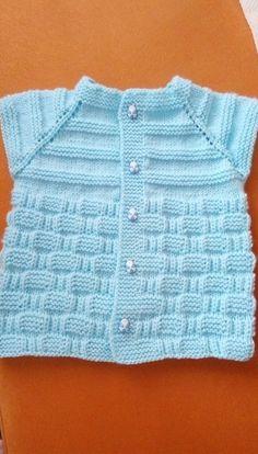 Hızlı ve Kolay Resim Paylaşımı Baby Cardigan Knitting Pattern, Baby Knitting Patterns, Knitting Stitches, Knitting Designs, Crochet Kids Hats, Knitted Hats, Knit Crochet, Cardigan Bebe, Baby Vest