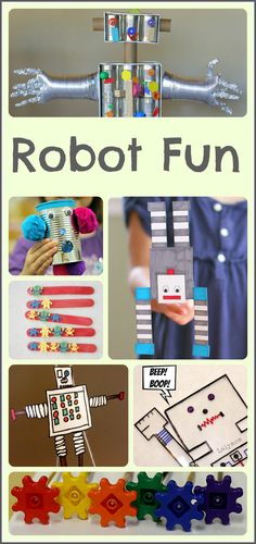 15+ robot activities for the kiddos - science, literacy, math, arts and crafts. Lots of robotic fun!