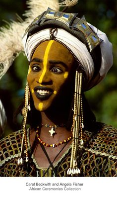 Africa   A Wodaabe man, partaking in the Yaake dance.  Niger.    ©Carol Beckwith and Angela Fisher