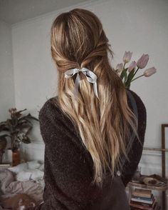 Image result for aesthetic short braid and bow