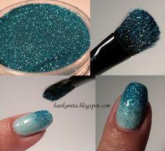 Glitterende nagels.