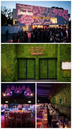Love the greenery wall, elevators included! Todd Events, great corporate event design