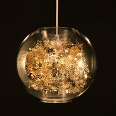 Gold Mercury Glass Fluted Pendant Light Mini Hanging Globe Chandelier Aqua New