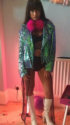 I need this sequin biker jacket by Isolates Heroes x