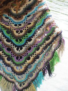 "Crochet shawl ""Arabesque"" (lace wrap, crochet lace, crochet cotton shawl, summer shawl)"