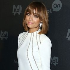 CELEBRITY HAIR: Nicole Richie shows off new fringe and brown bob in NY - Yahoo! Lifestyle UK
