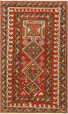 Antique Caucasian Shirvan Rug 47450 Main Image - By Nazmiyal
