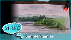 Finding Simple Plein Air Subjects to Paint in Watercolor